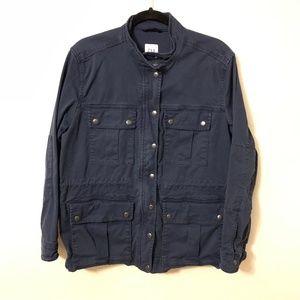 Gap Navy Blue Zip Up Parka Jacket